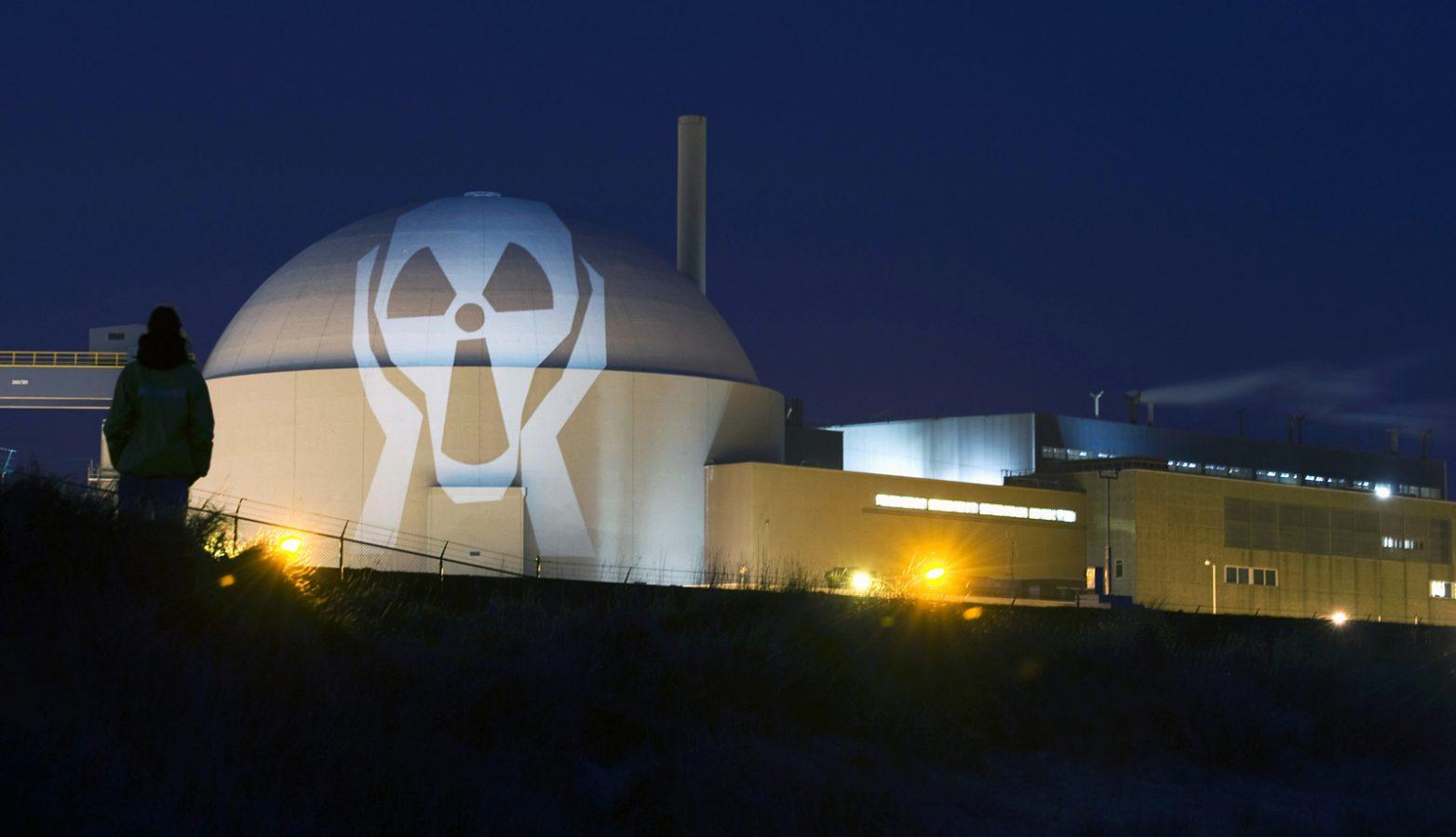 Actie Greenpeace (kerncentrale Borssele)