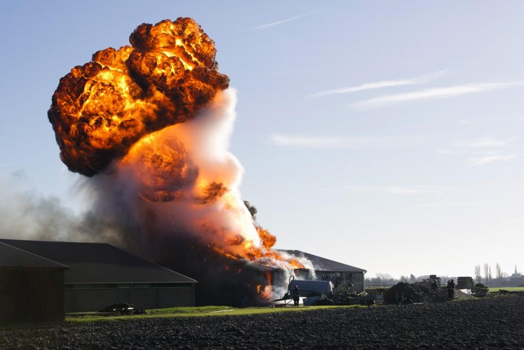 Explosie bij brand (Serooskerke)